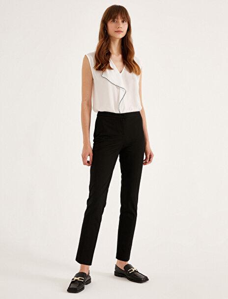 Koton Kadın Slim Crop Pantolon