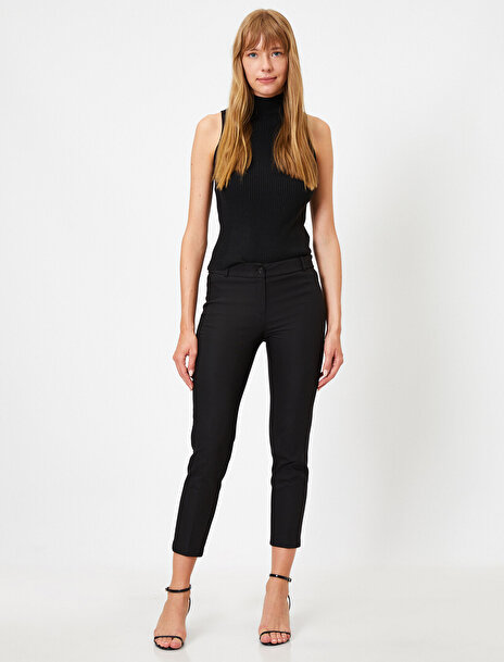 Koton Kadın Basic Crop Pantolon
