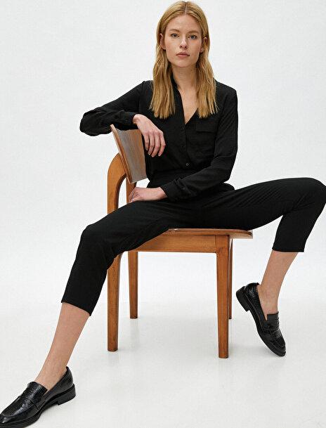 Koton Kadın Cepli Pantolon Crop