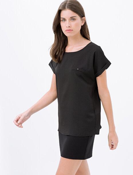 Kadın Cep Detayli Bluz
