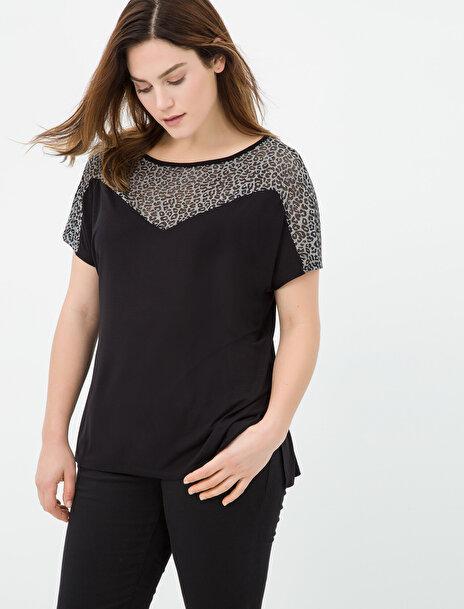 Koton Kadın Leopar Detayli T-Shirt