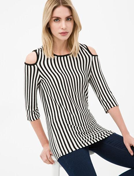 Kadın Çizgili T-Shirt