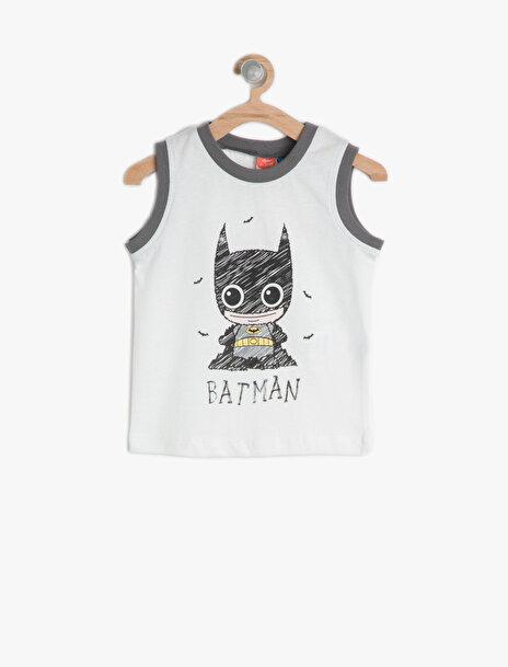 Erkek Çocuk Batman Baskili Atlet