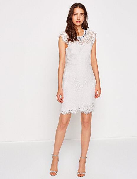 Kadın Dantel Detayli Elbise