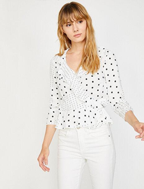Koton Kadın Puantiye Detayli Bluz
