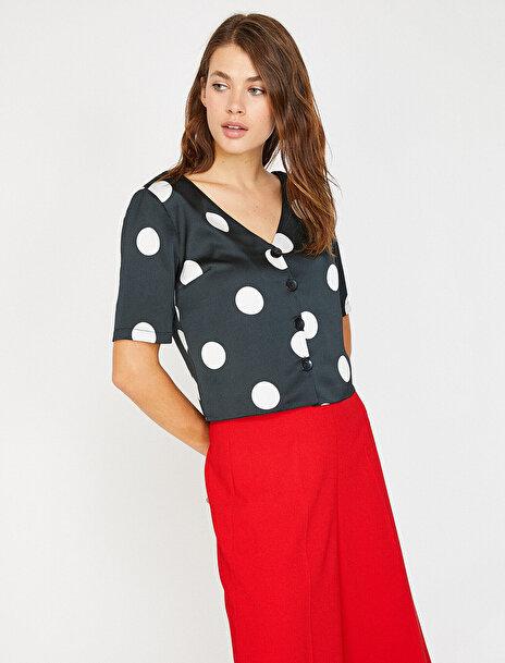 Kadın Puantiyeli Gömlek