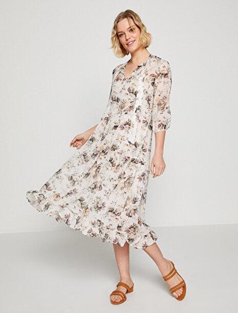 Kadın Çiçekli Elbise