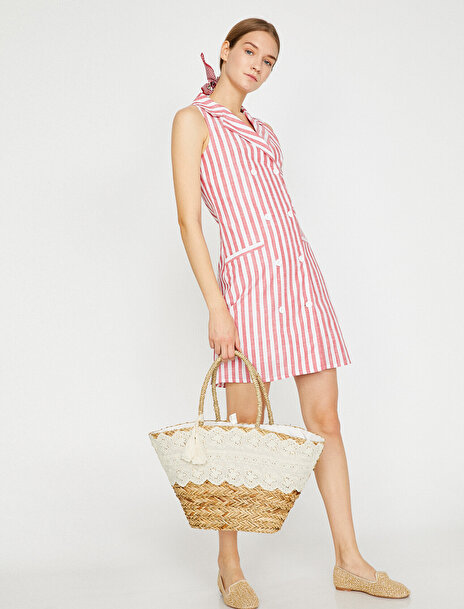 Kadın Çizgili Elbise