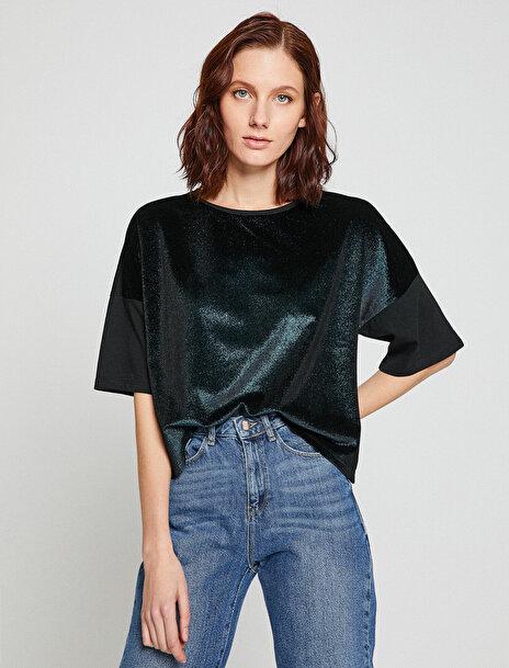 Kadın Sim Detayli T-Shirt