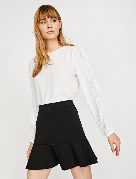 Kadın Firfir Detayli Bluz