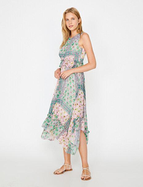 Kadın Desenli Elbise