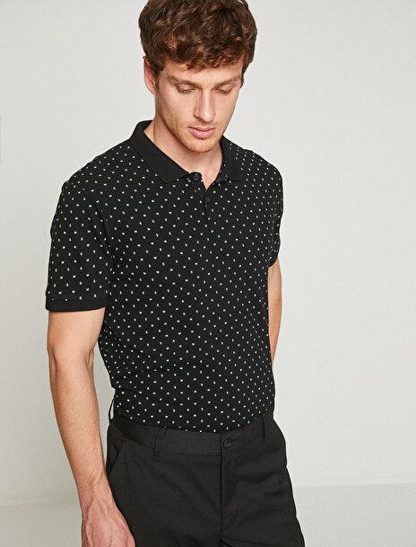 Erkek Polo Yaka Desenli T-Shirt