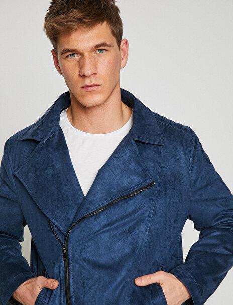 Erkek Süet Görünümlü Ceket
