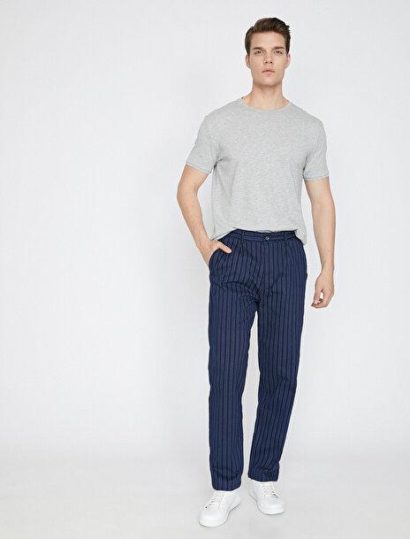 Erkek Çizgili Pantolon
