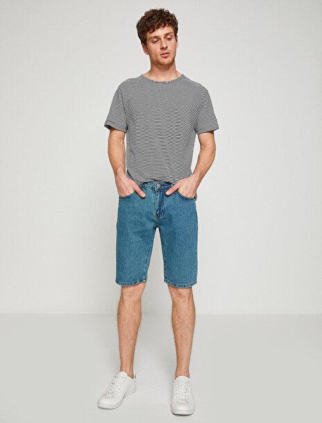 Erkek Normal Bel Jean Sort