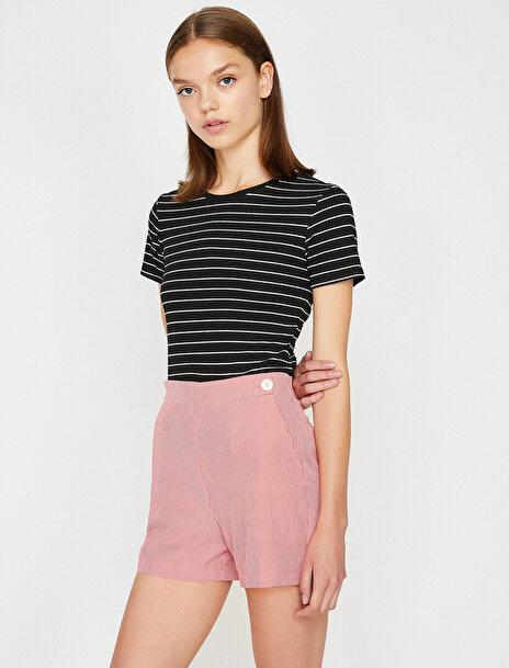 Koton Kadın Çizgili T-Shirt
