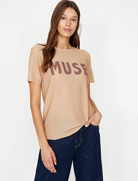 Koton Kadın Yazili Baskili T-Shirt