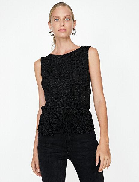 Kadın Sim Detayli Bluz