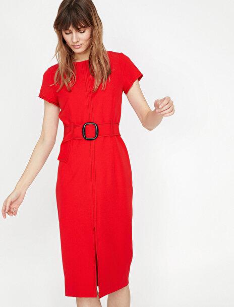 Kadın Kemer Detayli Elbise