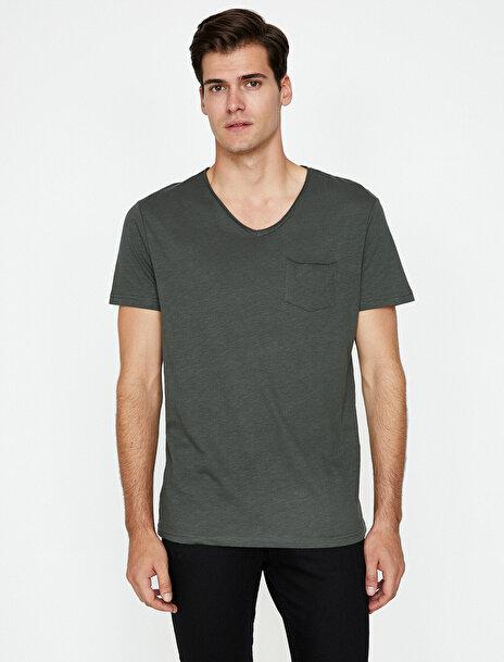 Erkek Cep Detayli T-Shirt