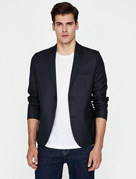 Erkek Cep Detayli Blazer Ceket