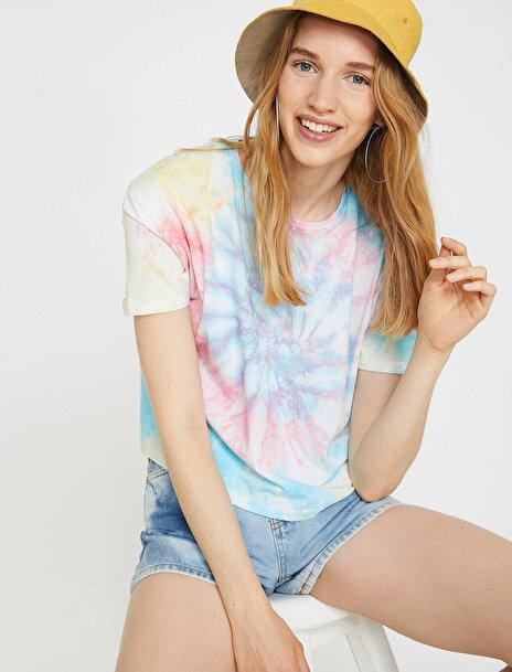 Kadın Desenli T-Shirt