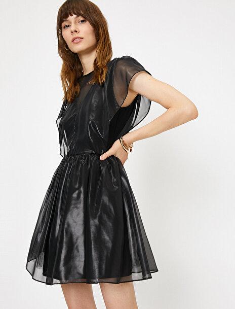 Koton Kadın Parlak Kumasli Kisa Party Elbisesi