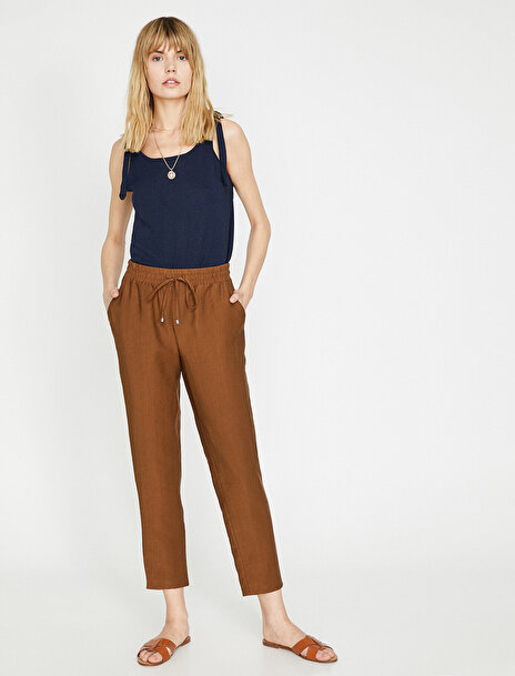 Koton Kadın Beli Bağlamalı  Pantolon