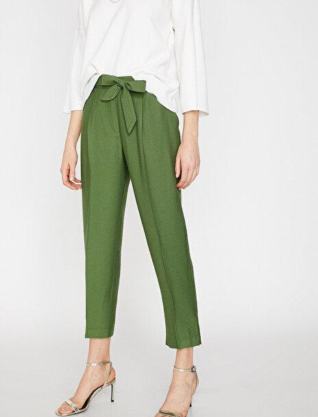 Kadın Beli Baglamali Pantolon