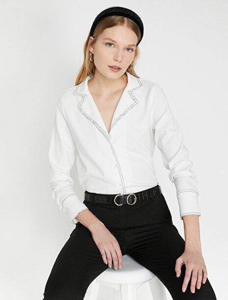 Kadın Klasik Yaka Gömlek