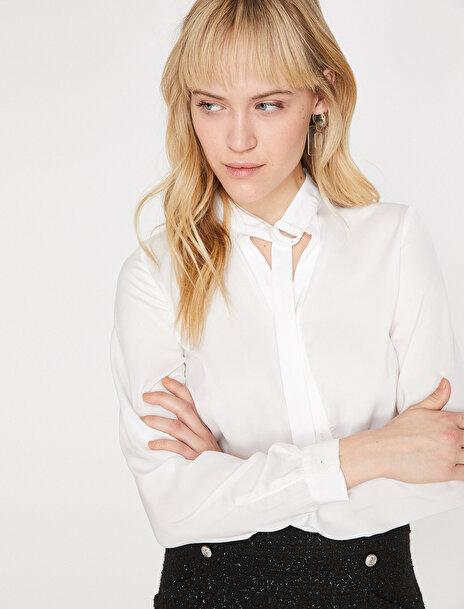 Kadın Yaka Detayli Bluz