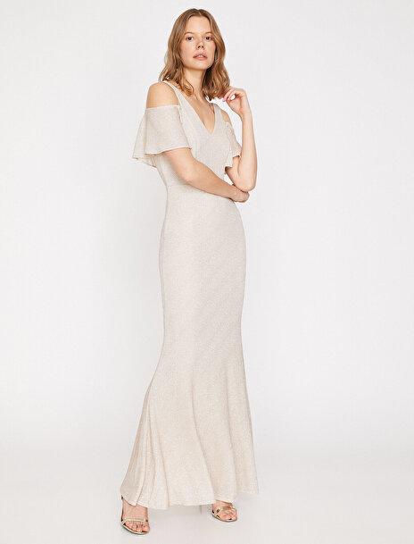 Koton Kadın Omuz Detayli Elbise