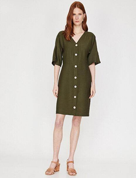Kadın The Natural Look Dress - Dogal Dokulu Elbise