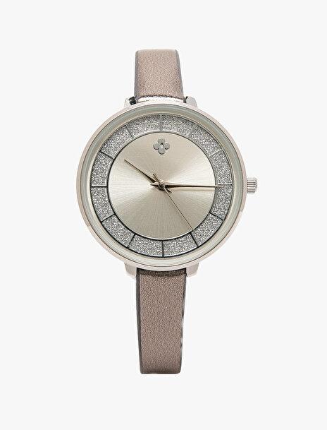 Kadın Deri Görünümlü Saat