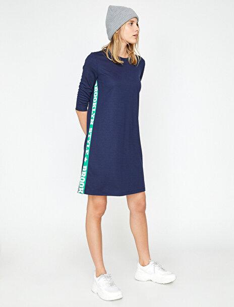 Kadın Yazili Baskili Elbise