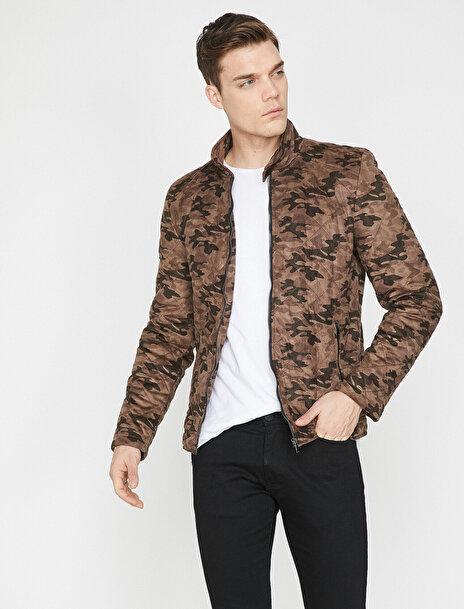 Erkek Kamuflaj Desenli Ceket