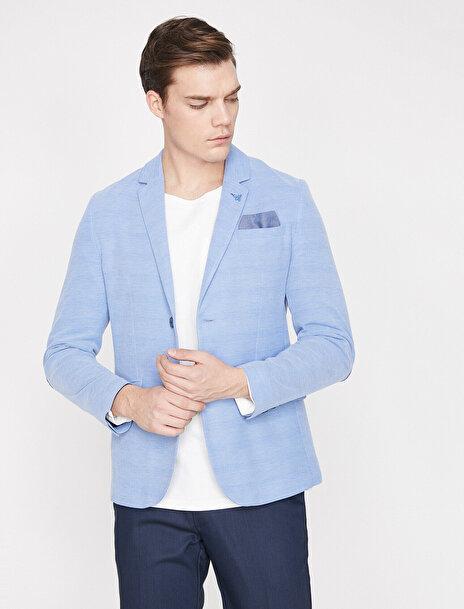 Erkek Dügme Detayli Ceket