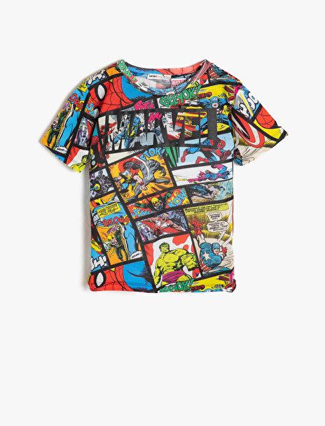 Erkek Çocuk Marvel Baskili T-Shirt