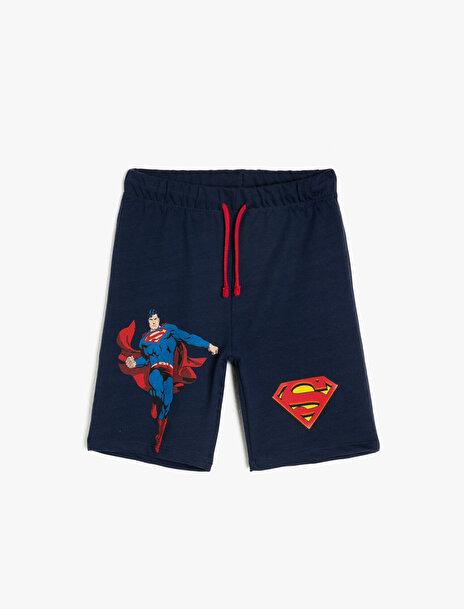 Erkek Çocuk Superman Baskili Sort