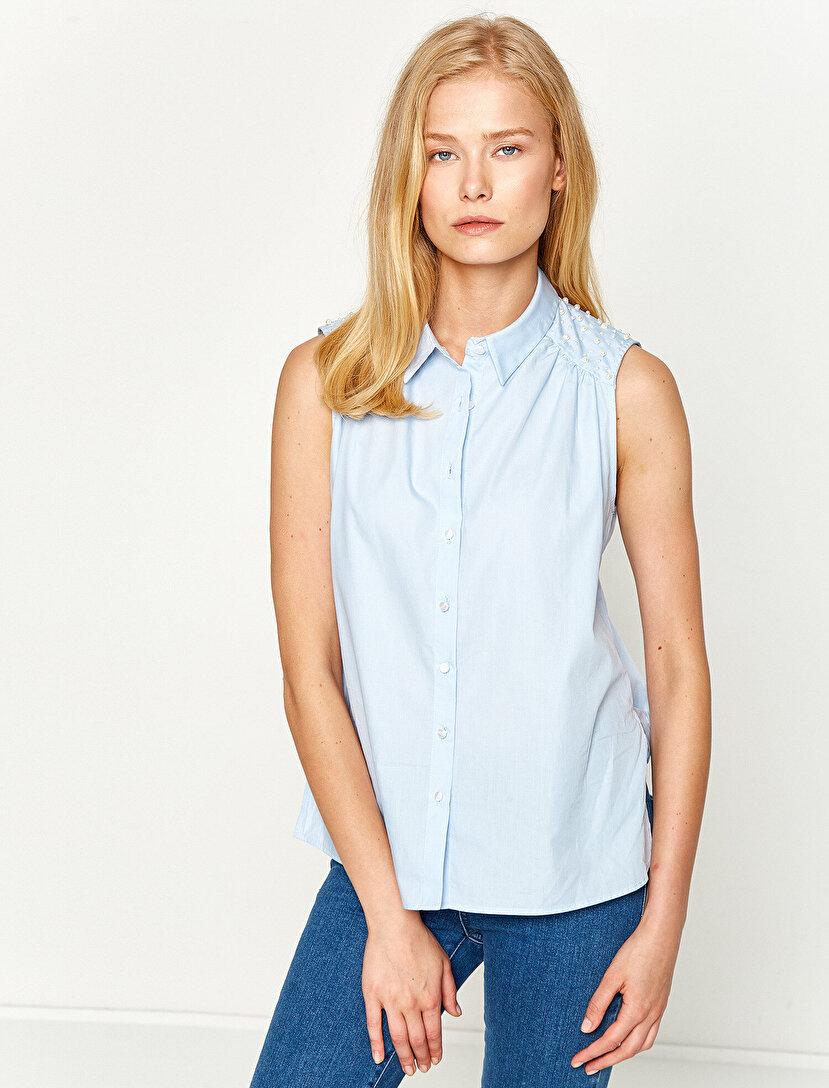 İnci Detaylı Gömlek