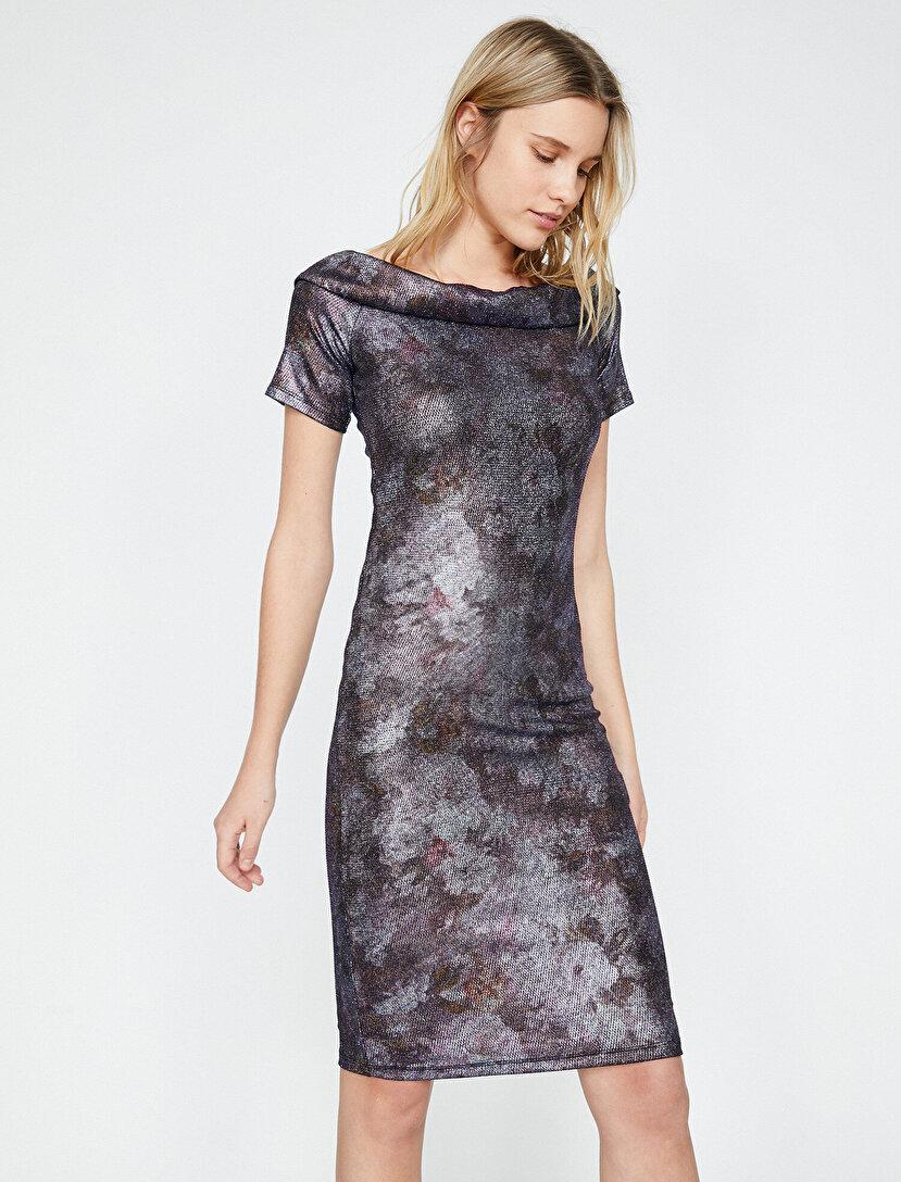 c0fd78f5a5 Shimmer Detailed Dresses. Shimmer Detailed Dresses Blue