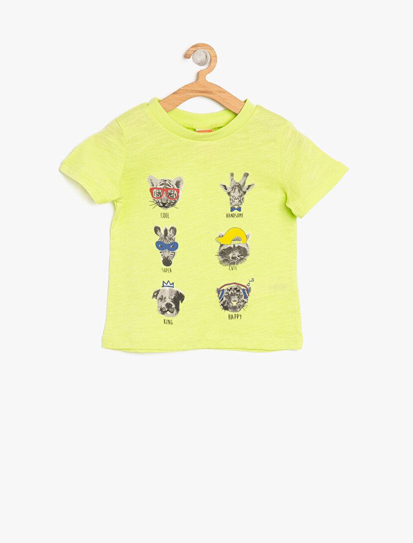 Hayvan Baskılı T-Shirt
