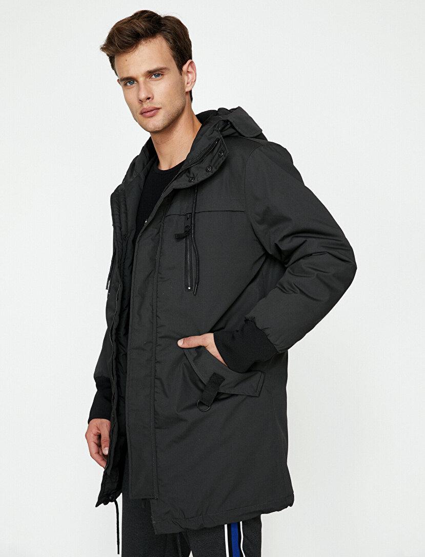 f83e7932ef94d Erkek Uzun Kışlık Kaşe Kaban Modelleri ve Fiyatları | Koton