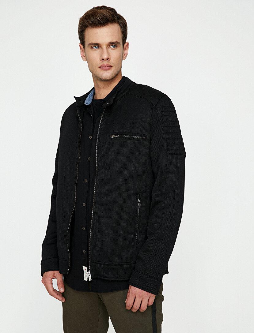 Zipper Detailed Coat