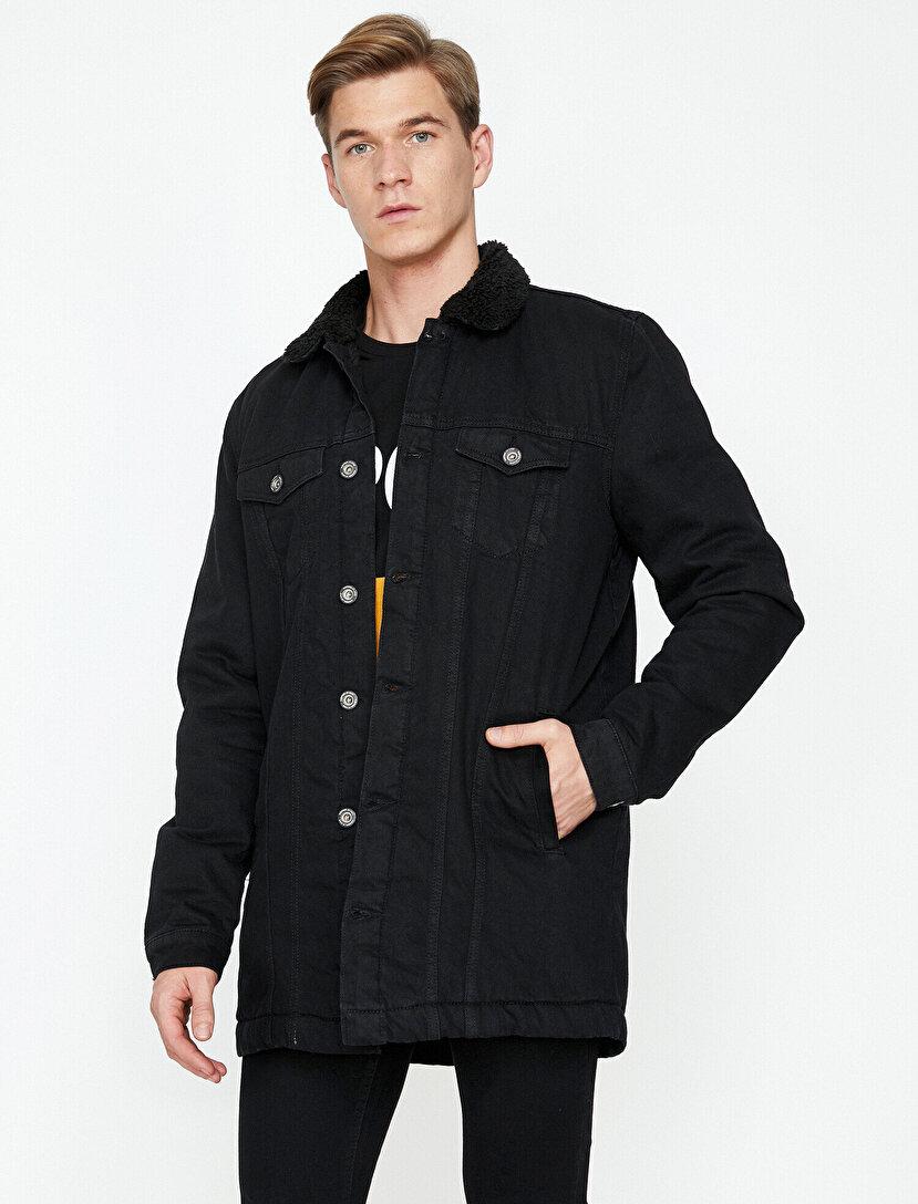 Siyah Kot Ceket Modelleri Bayan