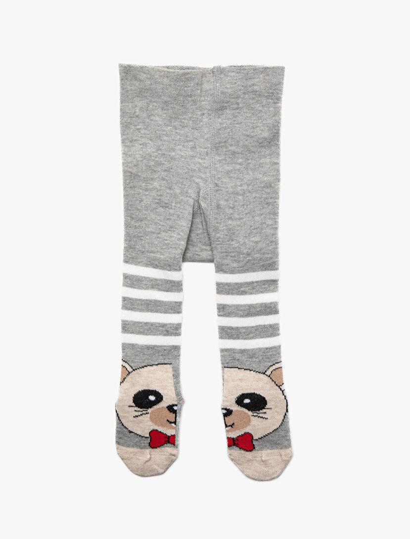 Erkek Bebek Desenli Külotlu Çorap