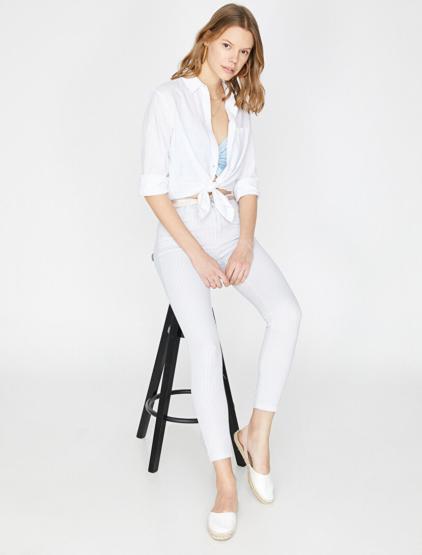 6e74b18adf37e Bayan Pantolon Modelleri & Havuç Pantolon Fiyatları 2019 | Koton