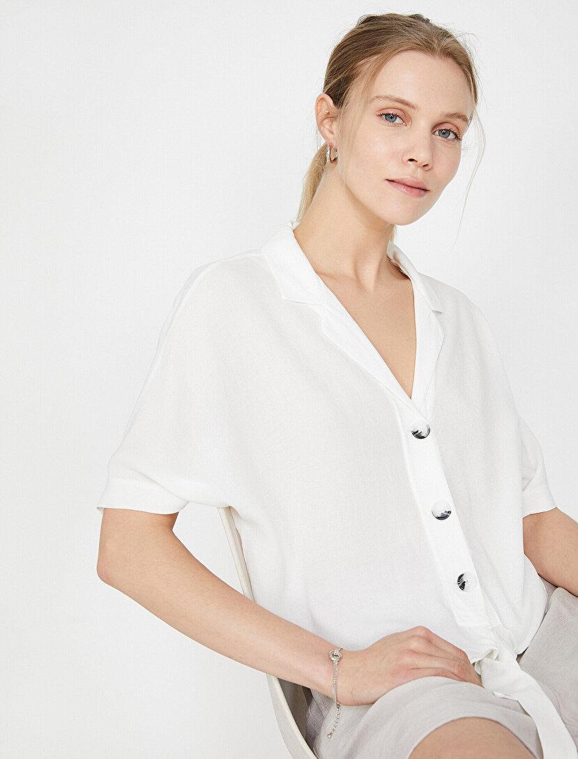 b055198593a3e Bayan Gömlek Modelleri & Bayan Hakim Yaka Gömlek Fiyatları   Koton