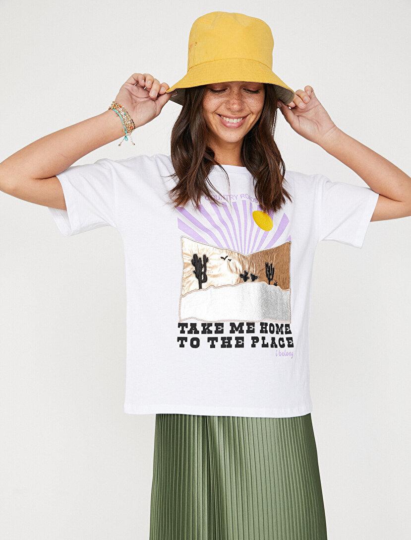 db88cc0d61465 Women T-Shirt Models, Printed T-Shirts and Prices I Koton T-Shirt