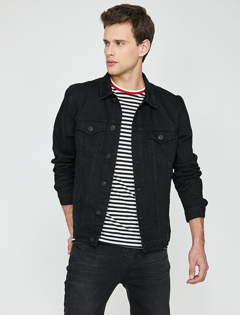 a6ad9501470be Erkek Jean Ceket Modelleri ve Fiyatları | Koton Jean Ceket